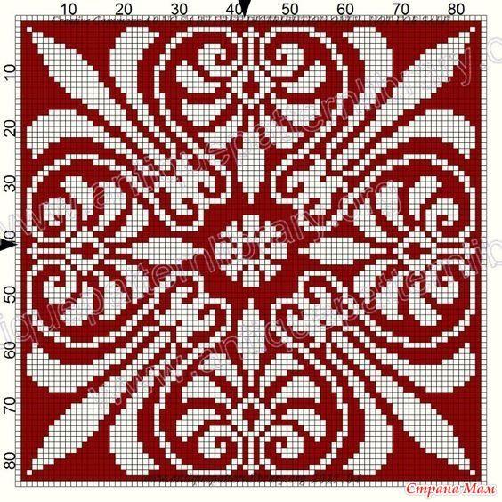 Орнаменты квадратные для подушек.