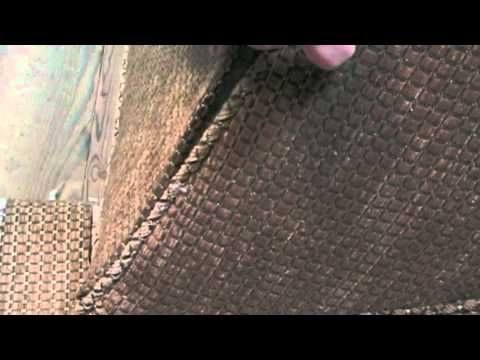 Upholstery How to use tack strip to close up upholstered furniture.m4v