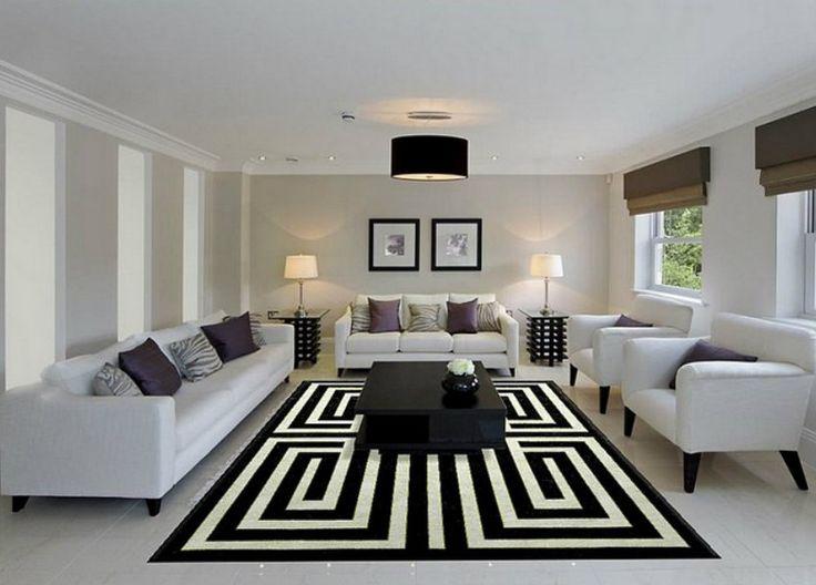 Top 10 moderne Teppiche | Moderne Quatrefoil Teppich: Quatrefoil ist ein Muster, das Ihnen moderne in vielen dekorativen Kissen, Teppiche und andere Textilien eingearbeitet zu sehen. Schwarz Teppich und Weiss Teppich| http://wohn-designtrend.de/top-10-moderne-teppiche/