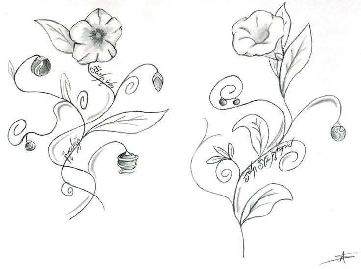 Fleures dessin tatoo fleur tatouage tatouage pinterest - Fleur tatouage dessin ...