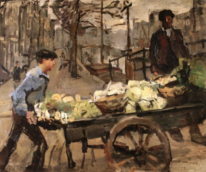 Isaac Lazarus Israëls (Dutch, 1865-1934) A Vegetable Seller on the Brouwersgracht, Amsterdam.