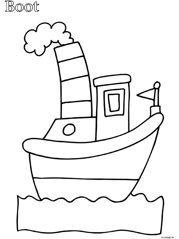 Kleurplaat Peuter kleurplaat boot - Kleurplaten.nl