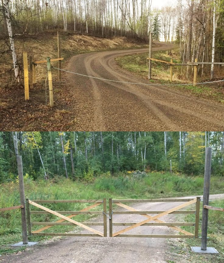 Acreage Gate Makeover | www.ofhousesandtrees.com