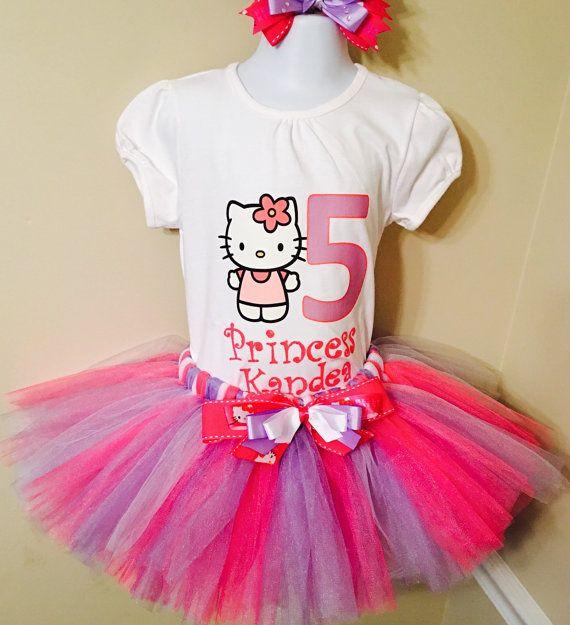 Hello Kitty Set de Tutu camiseta de por PrissyPrincessesShop