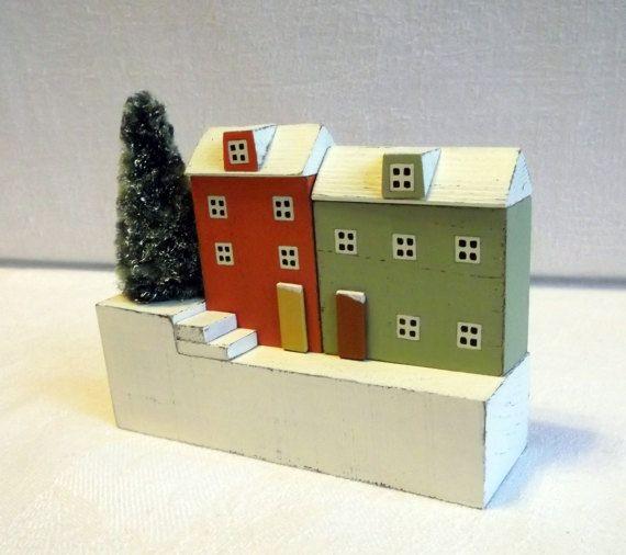 wood house home decoration house miniature wood от KseniaBerzina