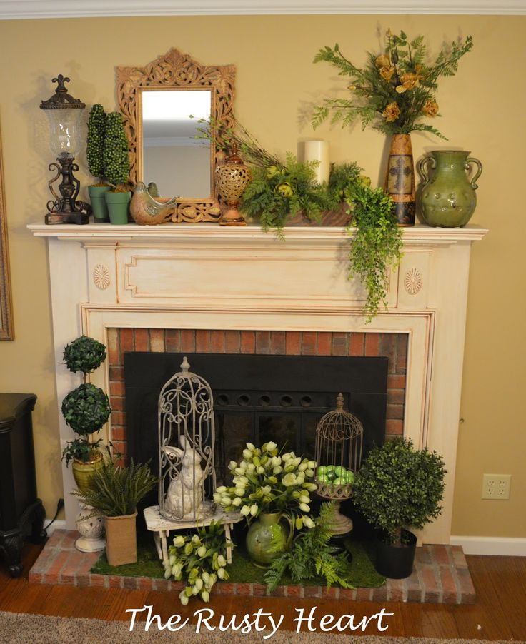 41 Best Images About Mantel Decor spring On Pinterest