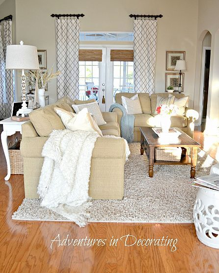 comfy!  need to convert my fam room to this- love the coziness feeling of this room!!!