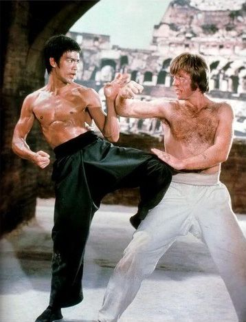 Clearly, The Way Of The Dragon did not get between Chuck Norris and Bruce Lee's friendship. Description from pinterest.com. I searched for this on bing.com/images