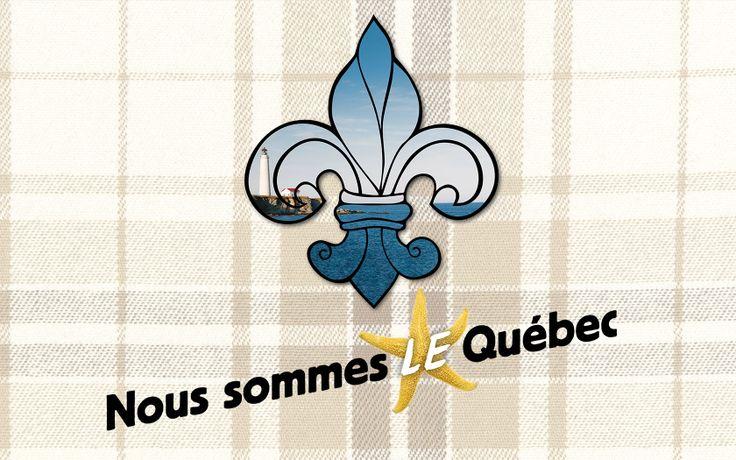 """Affiches de la Fête nationale du Québec 2014: """"Nous somme LE Québec""""."""