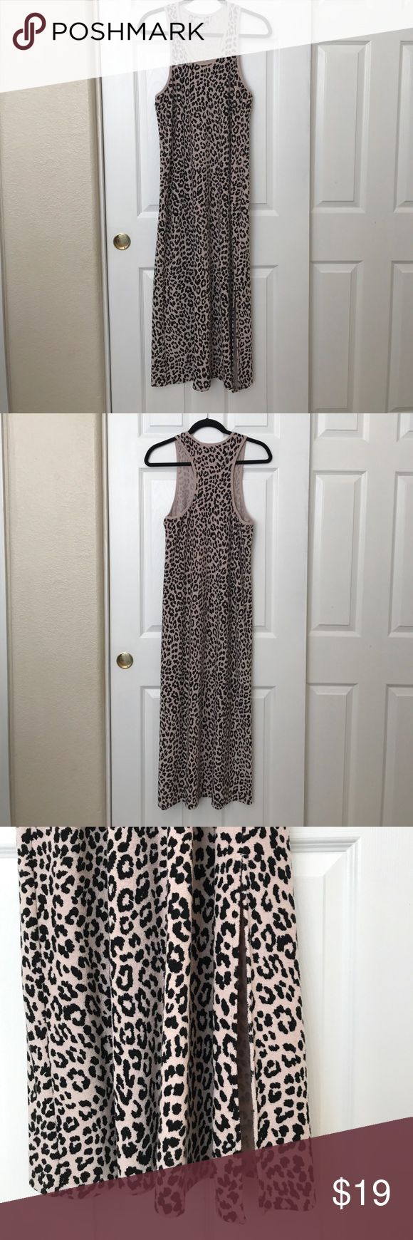 "Frou Frou Dress Frou Frou dress, size Medium. Animal print on a plush terry cloth material. Measures 51"" from top of shoulder. Has racer back and slit in the front left area. Excellent preowned condition. Frou Frou Intimates & Sleepwear Pajamas"