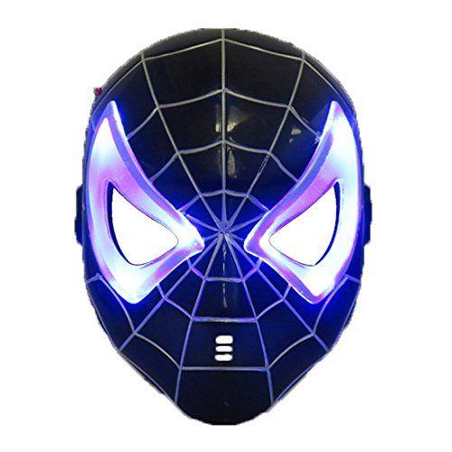 Black spiderman LED Mask  #spiderman #costumes #halloween