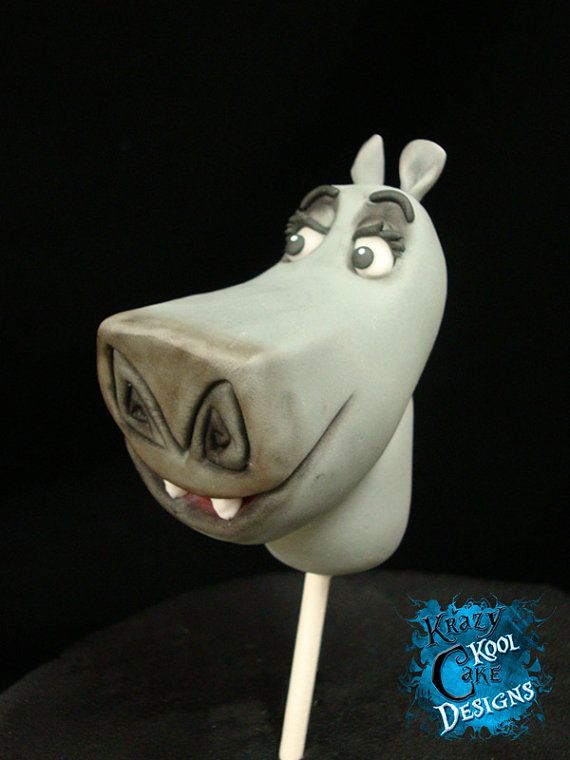 Gloria the Hippo Cake Topper From by KrazyKoolCakeDesigns on Etsy