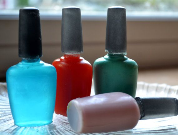 Soap for Her  Nail Polish Soap  Day at the Salon by ajsweetsoap, $6.00