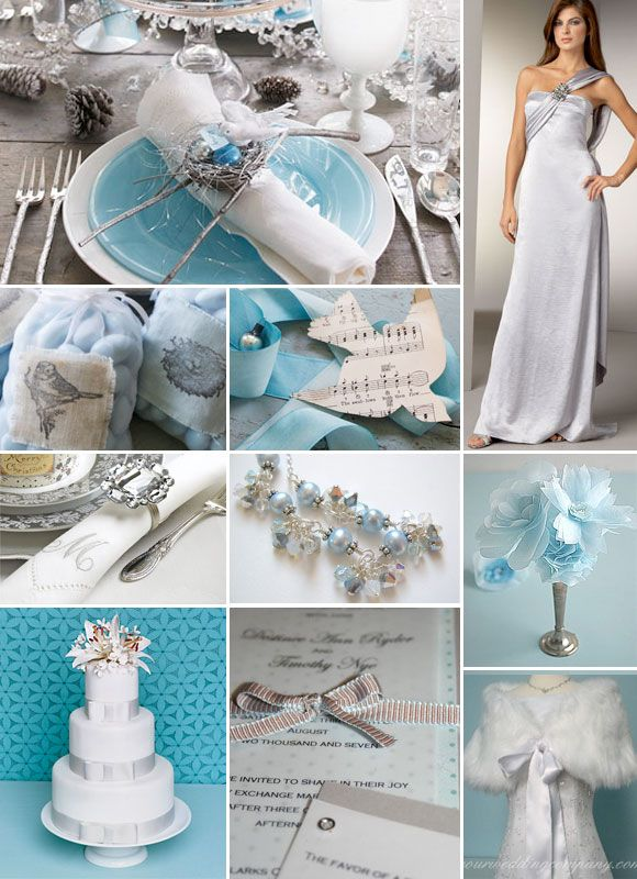 Blue And Silver Winter Weddings