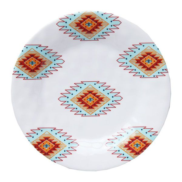 Delectably-Yours.com 16 Pc Melamine Southwestern Dinnerware Set by ...