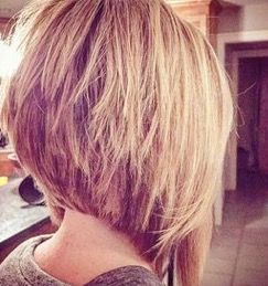 piece-y very short and dramatic bob