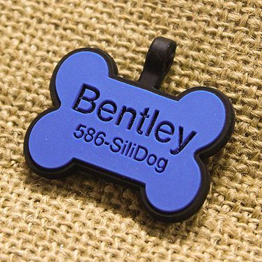 SiliDog - The Silent Pet Tag Silicone customized pet dog tags! so quiet so they don't wake baby! Literally in love