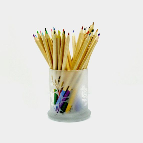 Back to School Glass Etched Pen Pencil Holder by BeedazzledDesigns, $ ...