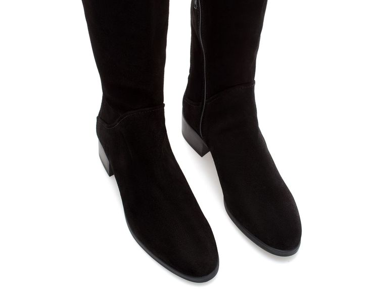 ZARA - WOMAN - FLAT SUEDE AND LEATHER BOOT