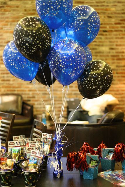 star wars party balloons decorations table centerpiece
