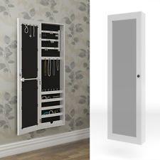 Armoire à glace armoire à bijoux Miroir mural blanc Mur Armoire grand