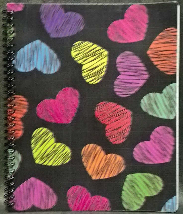 Piccadilly Notebook - Hearts Spiral Notebook 10.5x8.5 School Notebook NEW! #Piccadilly