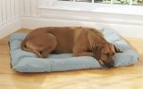 Toughchew Futon Dog Bed Cover / Dog Bed Cover - Medium, Blue/Gray