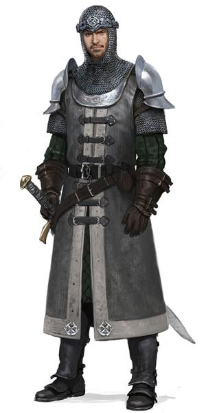 Dunland Captain Outfit - Lord of the Rings Online - Art by Wes Burt of https://massiveblack.com/