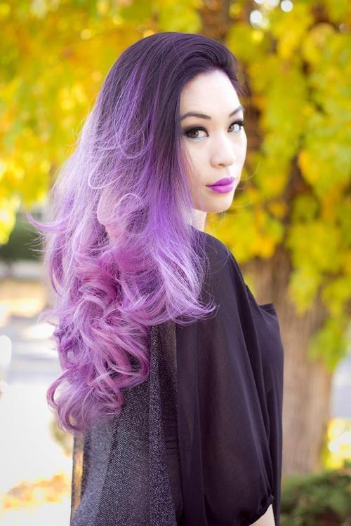 pink hair hair dye 365 lilac hair lavender hair self portrait colorful hair purple ombre hair liana hee Onyx Salon Burlingame