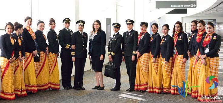 Air india all women flight around the globe setting a
