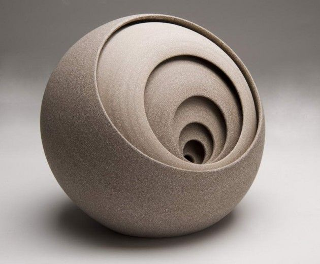 ceramic sculptures by Matthew Chambers, 1993, Nunney, are born from a love of geometric and constructivist art, architecture, and design. Each piece is a constructed abstract exploration of shape combining traditional processes and contemporary form, designed to create a visual and tactile beauty and intrigue. I really like the shapes of the ceramic. Really smooth and refined