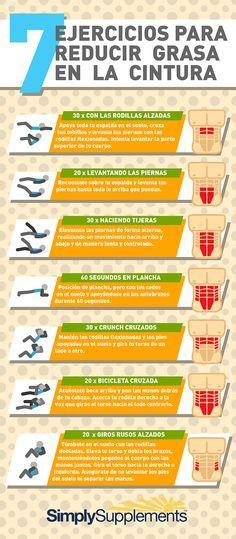 7 ejercicios para reducir grasa en cintura vía @SimplySuppsES