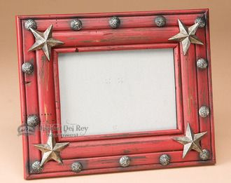 Rustic Western Picture Frame for 5x7 -Red (p28)