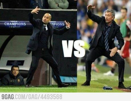 Pep vs Mou, hahaha