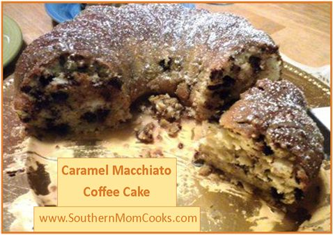 Easy Caramel Macchiato Coffee Cake  Made March 2014.  4 stars.  Not much coffee flavor, could make with regular coffee or espresso rather than the pre-made stuff.  Would like to strengthen coffee flavor next time.
