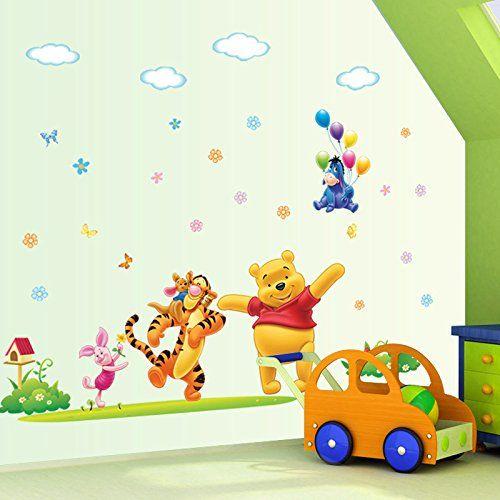 Popular Clest F uH Winnie The Pooh Wandtattoo Ballon Wandaufkleber for Kinderzimmer Dekoration Baby Kindergarten F uH frozen