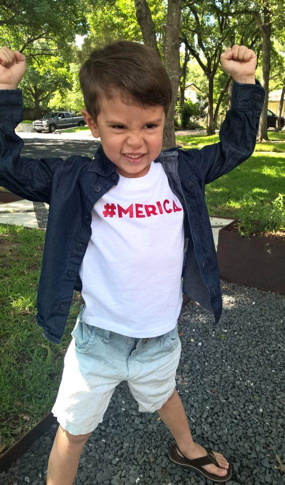4th of July Kid T-shirt, #Merica Shirt, Patriotic T-shirt, USA Kid Shirt