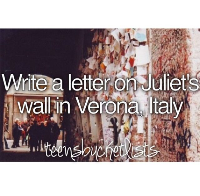 Bucket list ❤ It's a little cheesy but sometime cheesy is good!