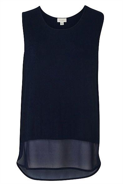 Sleeveless tank @WITCHERY Fashion #backtowork #blue