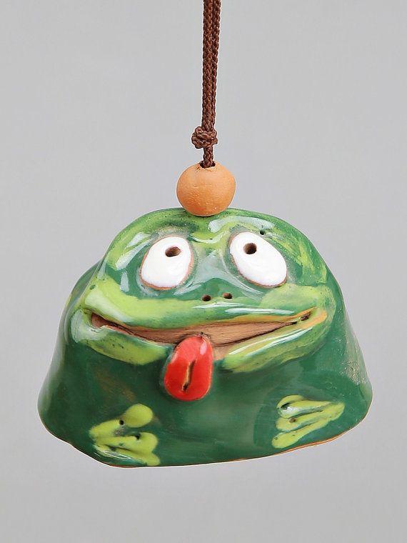 Small Ceramic Bells: Lady-Bird Frog Snail Turtle. School