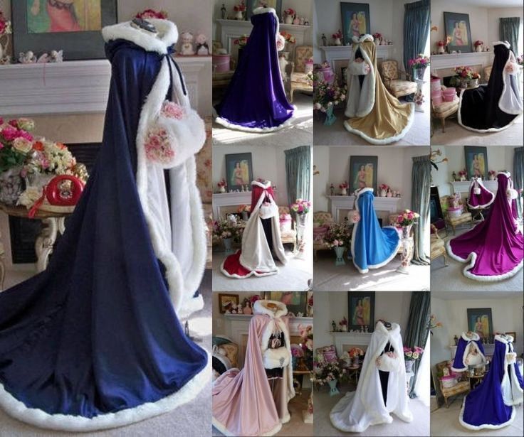 Vintage Bridal Cape Winter Faux Fur Train Wedding Cloaks Women Shawls Bolero #WrapsShawls