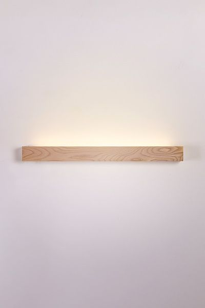 strek collective, compositor is a series of lamps where the light source is mounted behind a plank of ash.
