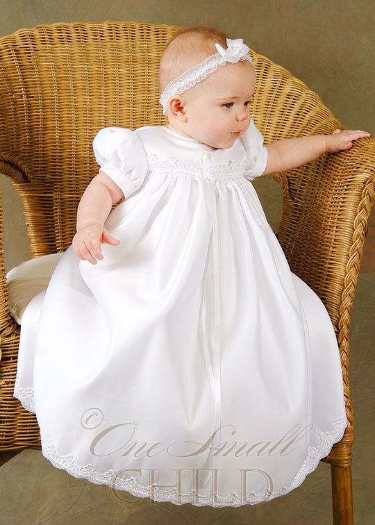 Just ordered Preslie's Baptism gown!!  :-)  Ashley Christening Baptism Gown by OneSmallChild on Etsy, $55.50