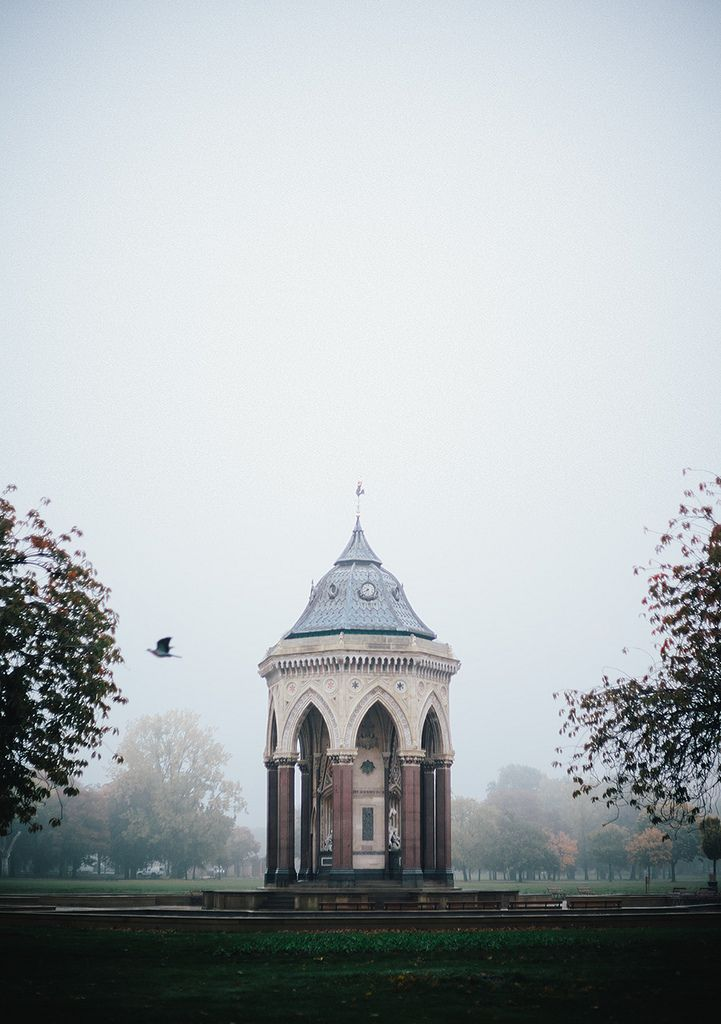 fog takes over victoria park, london