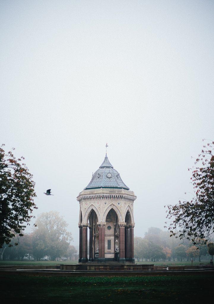 fog takes over victoria park, london