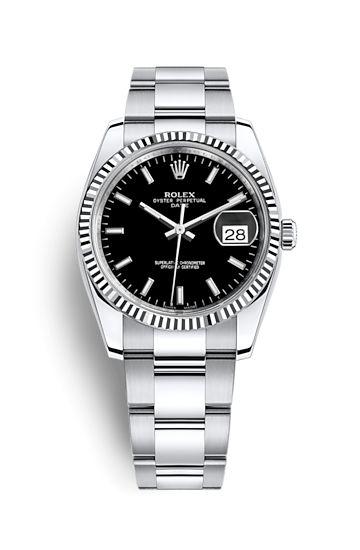 Reloj Rolex Date 34: Rolesor blanco - combinación de acero 904L y oro blanco de 18 quilates – 115234