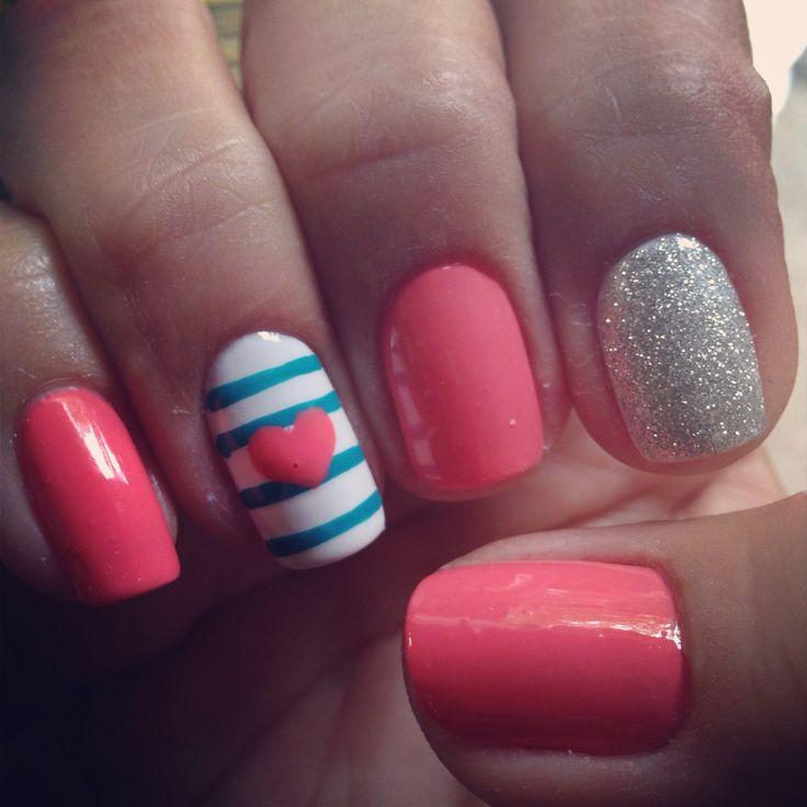 Un nail art súper girly.