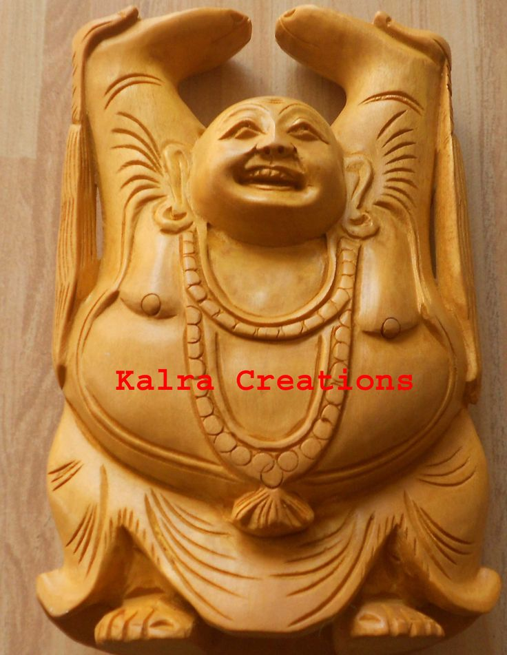 Asian Happy Man / Laughing Buddha Gift Idol Rare Wooden Idol Statue Hand Carved http://kalracreations.com/home-furnishing/wooden-art/asian-happy-man-laughing-buddha-gift-idol-rare-wooden-idol-statue-hand-carved.html