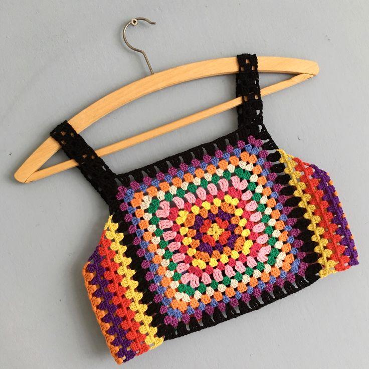 Colorful crochet summer top. Design by Puurcreatief