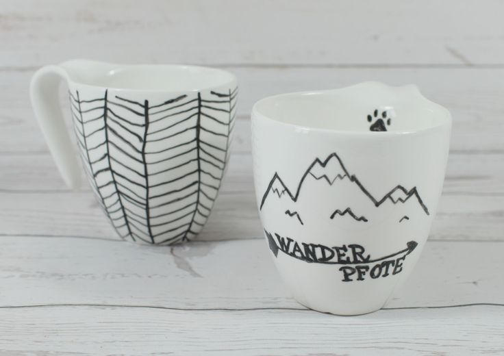 Tassen selbstdesignt mit Porzellanmalstift